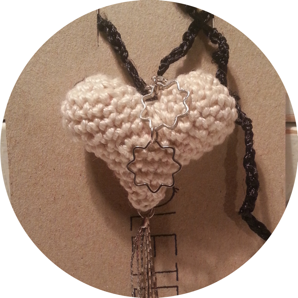HEART CROCHET NECKLACE