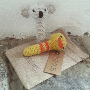 DUCK AND KOALA AMIGURUMI RATTLE